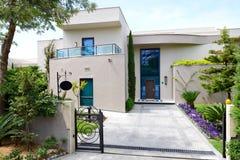 The building of luxury villa. Antalya, Turkey stock photography