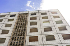 Building made with precast concrete slabs Stock Image