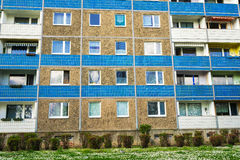 Building made with precast concrete slabs Royalty Free Stock Image