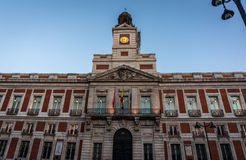 Building in Madrid, Spain. Official building in the square of Madrid, Spain Royalty Free Stock Photo
