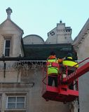 Building Maintenance. Workers providing building maintenance, Bratislava royalty free stock images