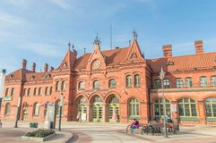 Building of Malbork railway station. Royalty Free Stock Photo
