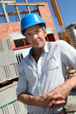 Building manager on site Royalty Free Stock Photo
