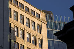 Building in Manchester City, England, Europe. Close-up. Royalty Free Stock Images