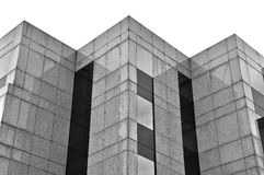 Building marble and glass facade Royalty Free Stock Photography