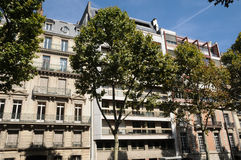 Building in Marceau avenue in Paris Royalty Free Stock Images
