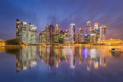 Building at marina bay ,Singapore 14/10/2559. Try to find reflect for Make it interesting royalty free stock photo