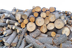 Building material and firewood Royalty Free Stock Photo