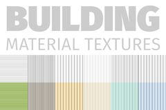Building Material Textures Set Of Patterns Vector Illustration. Textured Elements Collection On White Background. Stock Images