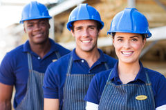 Building material warehouse workers Stock Photography