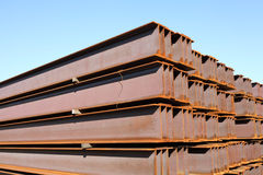 Building materials. And blue sky Stock Photos