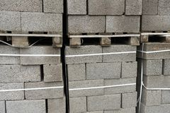 Building materials. Blocks for building strong and durable buildings.  Royalty Free Stock Images