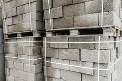 Building materials. Blocks for building strong and durable buildings.  Royalty Free Stock Image