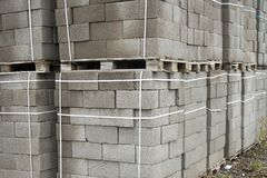 Building materials. Blocks for building strong and durable buildings.  Stock Photography
