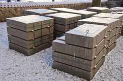 Building materials concrete block in urban park Stock Photography