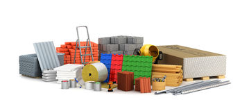 Building materials. stock illustration