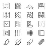 Building materials line vector icons Stock Photography
