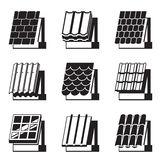 Building materials for roofs. Vector illustration Stock Image