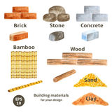Building materials set Royalty Free Stock Photography