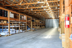 Building materials stored in warehouse Stock Image