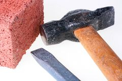 Building materials and tools Royalty Free Stock Photos