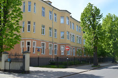 The building of maternity hospital No. 4 to Kaliningrad Royalty Free Stock Photography