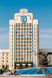 The building of the Maxim Tank Belarusian State Royalty Free Stock Photography