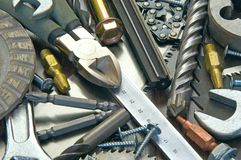 Building and measuring tools Royalty Free Stock Photo