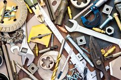 Building and measuring tools Royalty Free Stock Photos