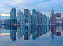 Building on Mega Floods Reflection Royalty Free Stock Photography
