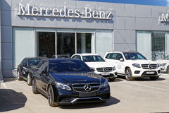 Building of Mercedes-Benz car selling and service center Royalty Free Stock Photo