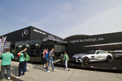 Building of Mercedes-Benz on the DTM car race Royalty Free Stock Photo