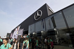 Building of Mercedes-Benz on the DTM car race Royalty Free Stock Photos