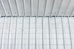 Building with metal sheets Stock Photo