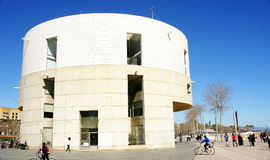 Building of the Meteorological Center. In the Olympic Village of Barcelona Stock Images