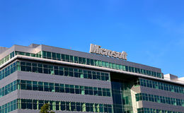 Building of Microsoft Office in Moscow Stock Images