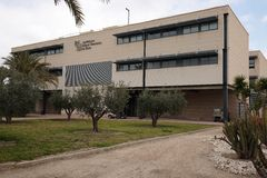Building of the Miguel Hernández University of Elche. Royalty Free Stock Image