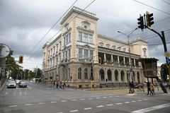 Building of Military Club in center of city of Sofia, Bulgaria stock photo
