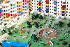 Building miniatures real estate Royalty Free Stock Images