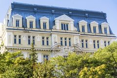 Ministry of Agriculture and Forestry in  Sofia. Building of the Ministry of Agriculture and Forestry among the trees in Bulgaria Royalty Free Stock Photo