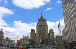 The building of the Ministry of Foreign Affairs in Moscow Royalty Free Stock Photo