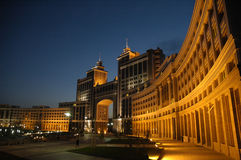 Building of ministry of oil and gas is in Astana stock photography