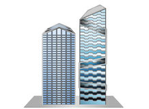 Building model sample. New design on a white background Royalty Free Stock Photography