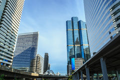 Building modern business area in bangkok Stock Images
