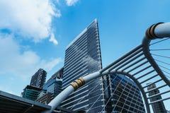 Building modern business area in bangkok Royalty Free Stock Photos