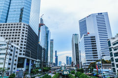 Building a modern business area Royalty Free Stock Photo