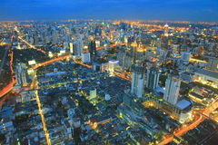 Building a modern city. Bangkok is a modern building that evening Stock Images