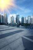 Building modern city Shanghai Royalty Free Stock Photo