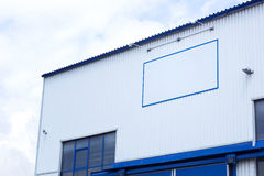 Building a modern factory hall Royalty Free Stock Photo