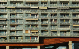 Building with modern flats. With balconies Royalty Free Stock Images